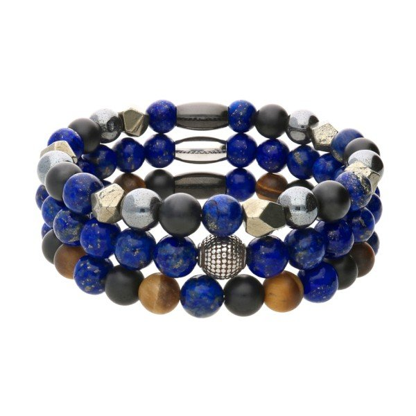 "Shoneo Men's bracelet set ""Sky"""